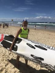 Competing at Aussies (surf life saving)