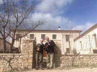 With Claudy and Hector, house sit , South of France.