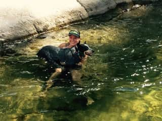 Me and Endo going for a swim in the gorge