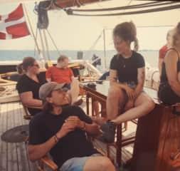 Us sailing towards skaergarden in sweden