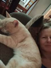 Me with my sweet cat.