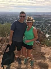 We love hiking - Camelback Mtn, Phoenix, AZ.