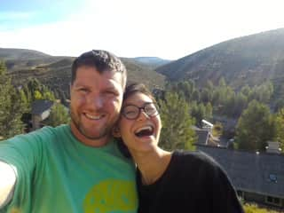 Rayburn and Lily on their engagement day in Colorado.