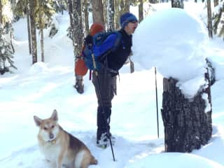 exercise in the snow :)