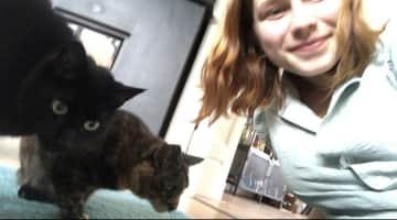 Liz is definitely more than happy to send you reassuring pet selfies
