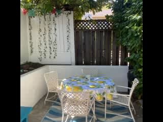 Back patio-shady and private