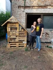 Us, with the finished project :)