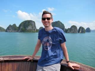 Dan in Ha Long Bay