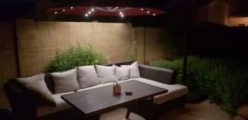 Intimate back patio