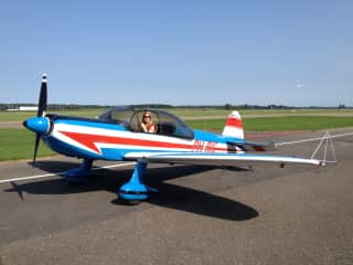 Me flying a small single engine airplane
