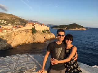Us in Dubrovnik. Travelling is one of the highlights of our life.