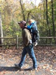 David and Luca hiking in Pennsylvania