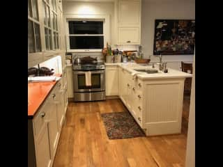Kitchen with eating nook.