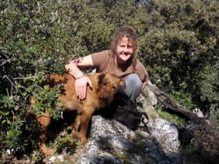 Caron and Lucek hiking