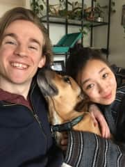 Hanging out with our good boy, Ryder. We watched him in Seattle <3