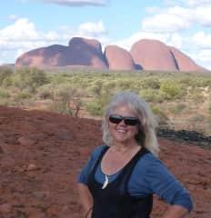 Out exploring at Kata Tjuta in central Australia