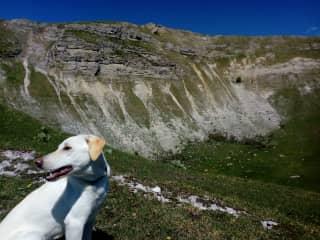Lena in the mountain.