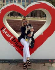 Karen and her beloved Texas Heeler rescue dog Pepper