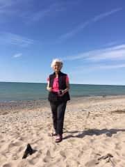 Diane alone tent camping in Canada