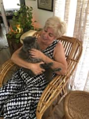 Me with my 17 year old cat Lucca.