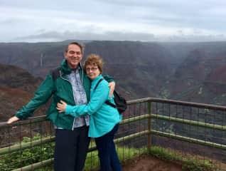Al & Jaymee hiking in Kauai