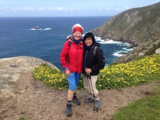 Myself and my daughter Úna-Minh while we were walking the Camino in Spain. Taken in Finisterre!