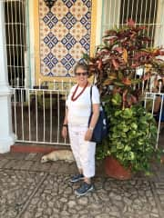 This is a picture of me in Cuba, of course I have found a dog who speaks English as well as Spanish!