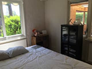 My bedroom which will be a study when the re-decorating is complete