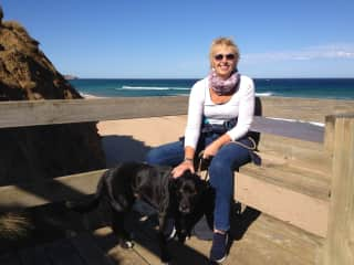 Marianne with Juno on Phillip Island, Victoria (our first sit)