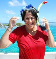 Marci Snorkeling in Bora Bora