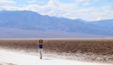Me walking the Badwater Basin, Death Valley National Park, California. May, 2018. In the last eight months I've seen some amazing sites and met a lot of wonderful people!