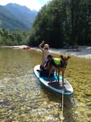 more SUPing this time with my friend's kids