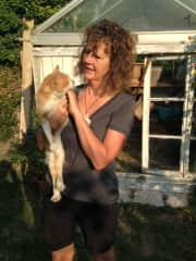 Caron and Foxie, the stray who found us