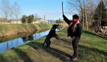 Playing with Ella in Dordogne