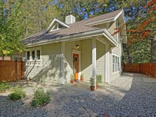 Tranquil retreat, with downtown within walking distance. Gated yard and lots of privacy.