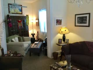 2nd parlor w large screen tv