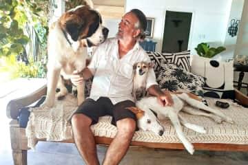 Dan and the Motley Crew at pet sit in Umalas, Bali