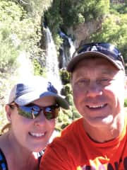 Leigh Ann and Troy out hiking