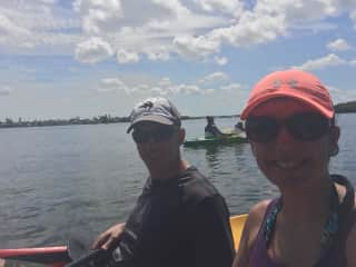 Kayaking on our lake