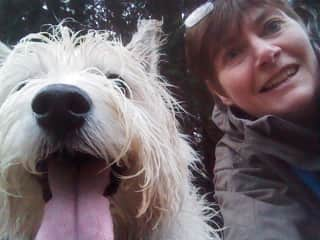 Pip &  Max - This was taken several years ago. unfortunately Max is no longer with us. But his memory lives on in my books