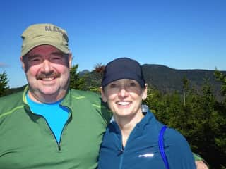 Ed and Jane on hike in Vermont