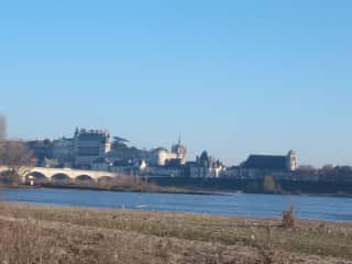 View of the river Loire opposite Amboise château