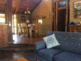 Lounge dining area.