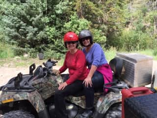Pam and friend ATVing on the Paiute in Utah