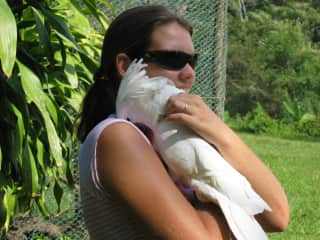 Helene and my baby the great cockatoo namely tibo