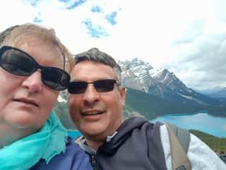 Andrew and Carolyn at Peyto Lake in Canada
