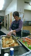 Me helping feed homeless teenagers in Seattle, Washington USA