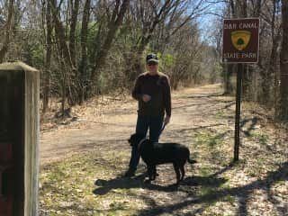 Bill with Ranger in Frenchtown, NewJersey.