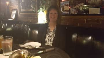 Kathy - enjoying fine dining at a favorite establishment