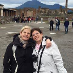 Me and my sister in Pompeii